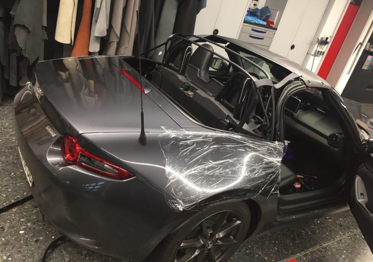 Mazda MX5 ND Cabrioverdeck aus Sonnenlandstoff